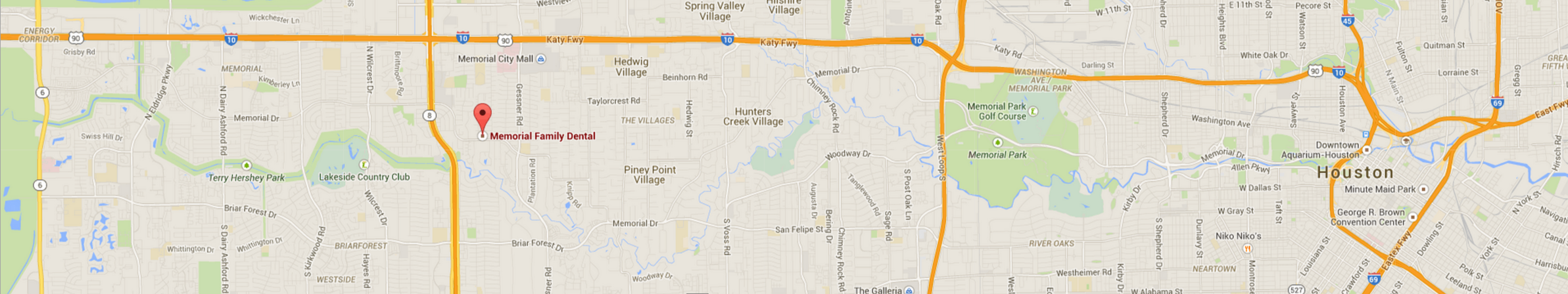 Houston area dentist map