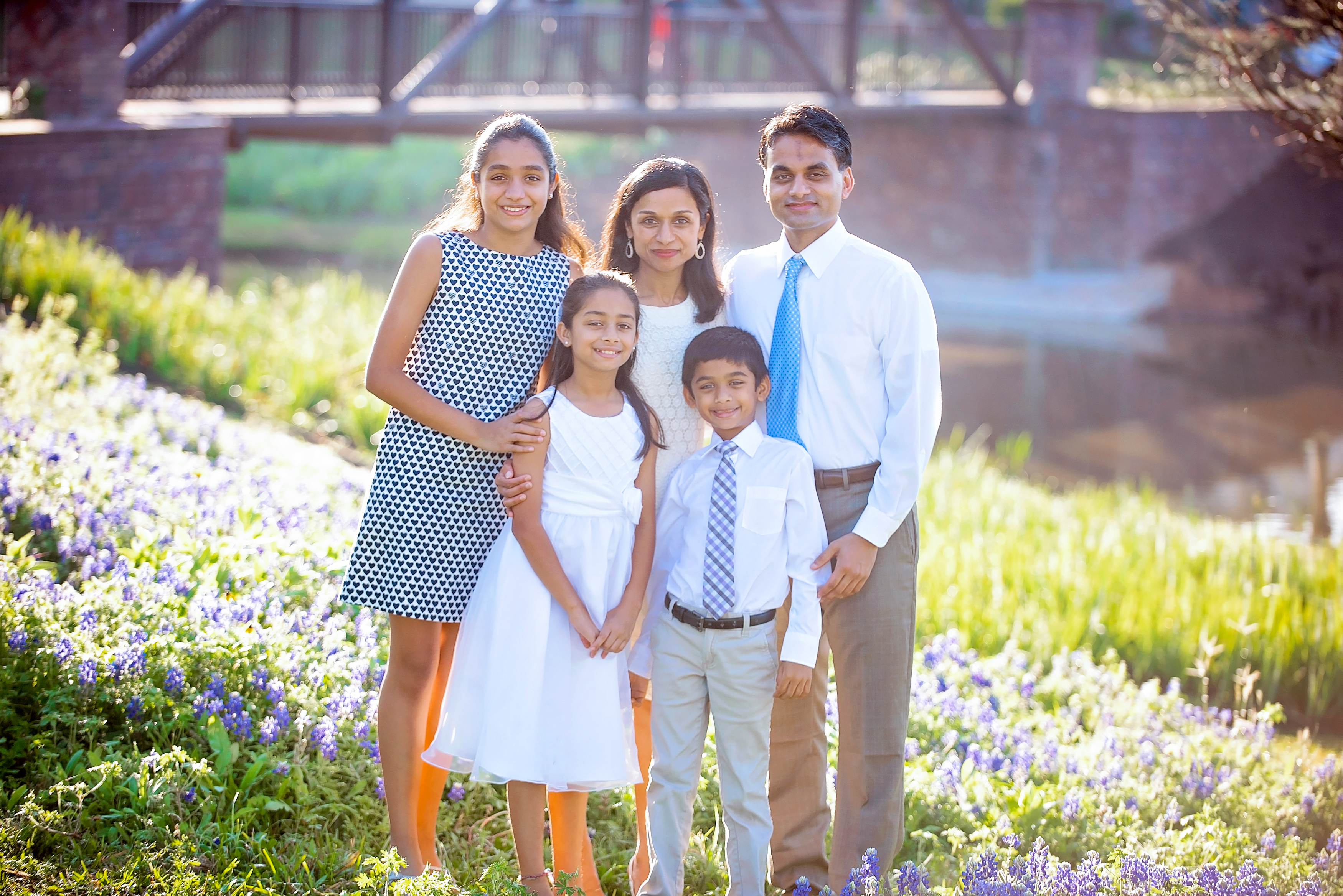 Dr Sandhya Harpavat and her family.
